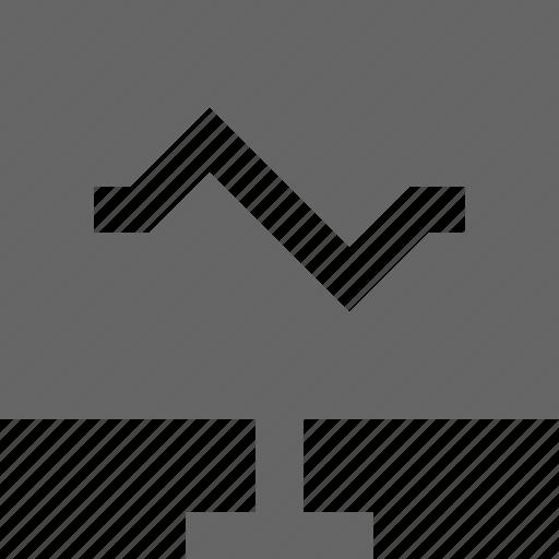 alert, analytics, computer, graph, monitor, notification, status icon