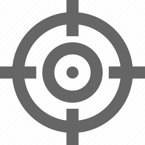 aim, crosshair, focus, goal, hit, target icon