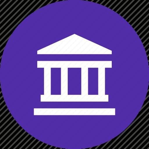bank, building, finance, financial, institution, pillar icon