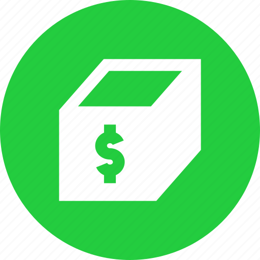 banking, bundle, dollar, financial, package, product icon