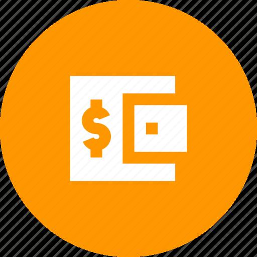 account, balance, dollar, money, purse, shopping, wallet icon