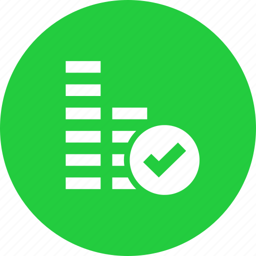 add, amount, approve, coins, money, select, verify icon