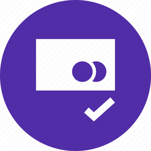 accept, approve, banking, card, confirm, credit, debit icon
