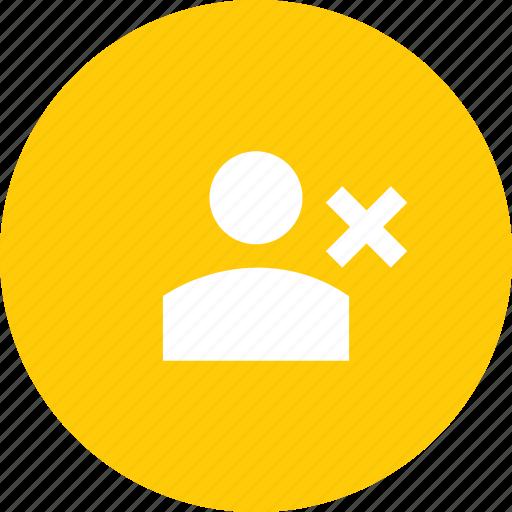 account, cancel, customer, delete, profile, reject, user icon