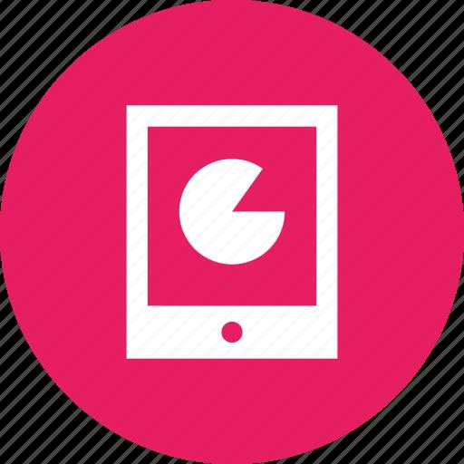 analysis, app, chart, data, mobile, pie, statistics icon