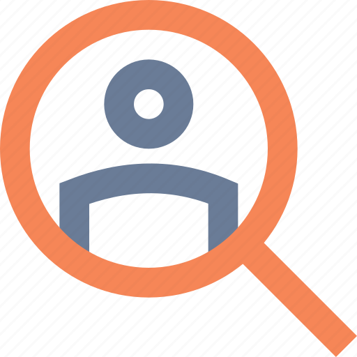 account, customer, find, locate, profile, search, user icon