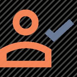 account, approve, confirm, customer, profile, user, verify icon