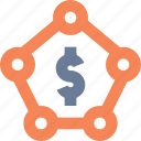 account, amount, banking, funds, locked, stakeholders icon