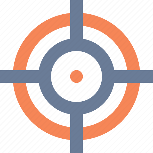 aim, crosshair, focus, goal, hit, target icon