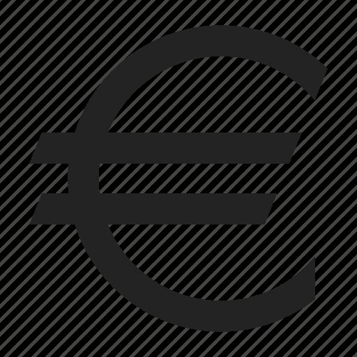 coin, euro, sign icon