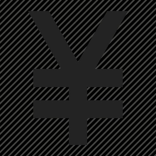 sign, yen, yuan icon