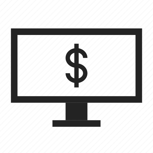 bank, desktop, online icon