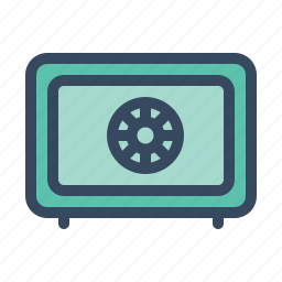 abacus, business, chart, finance, money, safety box icon