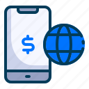 accounting, banking, business, finance, mobile banking, online banking, online payment icon