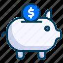 accounting, banking, business, dollar, finance, piggy bank, savings