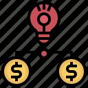 bulb, business, creative, education, inspiration, light, lightbulb icon