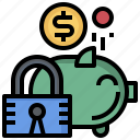 bank, coin, funds, money, piggy, save, savings icon