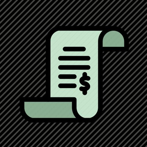 document, finance, financial, receipt, tax icon