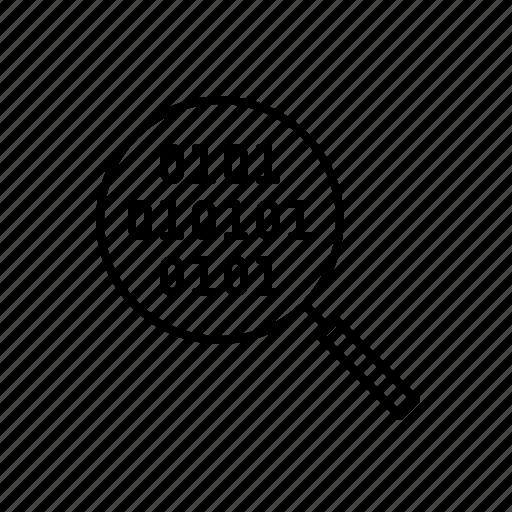 analysis, analyze, data, information, search, tech, technology icon
