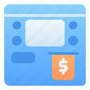 accounting, atm machine, banking, business, finance, teller, withdraw money icon