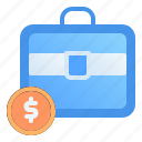 accounting, bag, banking, briefcase, business, finance, suitcase
