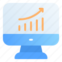 accounting, banking, business, finance, growth, increase, profits icon