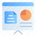 accounting, analytics, banking, business, finance, presentation, report icon