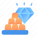 accounting, banking, business, diamond, finance, gold, value icon