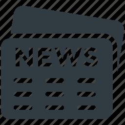 communication, news, newspaper, print media, social media icon