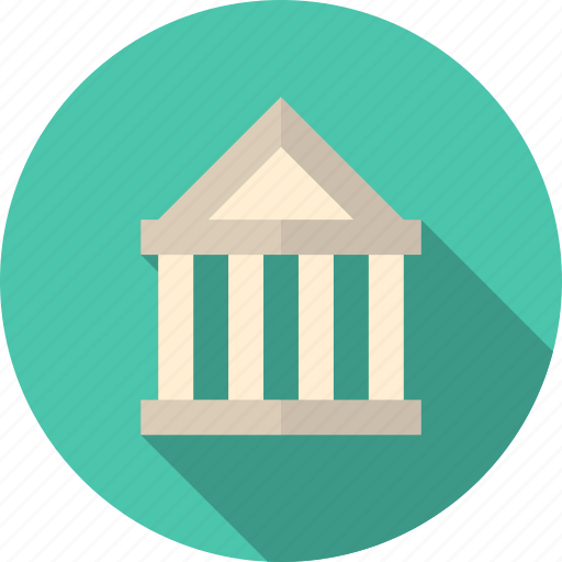 bank, banking, building, business, classic, courthouse, credit, deposit, finance, financial, government, institution, invest, investment, money, office, payment, structure icon