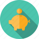 bank, banking, budget, business, cash, coin, currency, deposit, dollar, donation, earnings, economics, economy, finance, financial, funding, investment, money, pig, piggy, savings, wealth icon