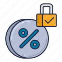 fixed, interest, rate icon