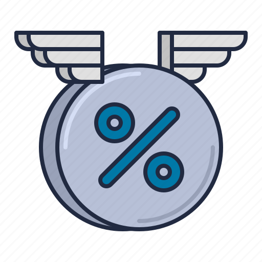 floating, interest, rate icon