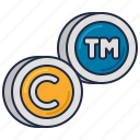 trademark, copyright, asset, intangible icon