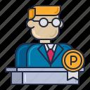 banker, man, principal icon