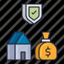 finance, loan, secured icon