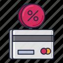 annual, precentage, rate icon