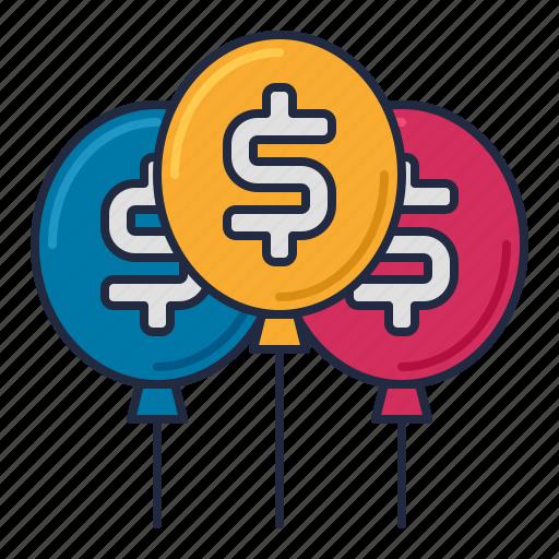 balloon, banking, loan icon