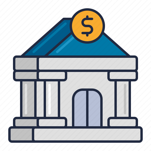bank, building, finance icon