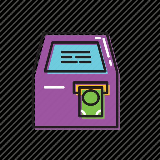 cash machine, cashier icon