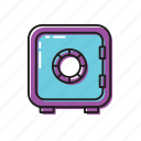 money safe, safe, vault icon