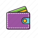 leather wallet, money, wallet icon