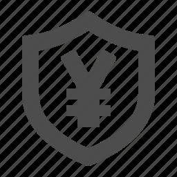 security, shield, yen, yuan icon