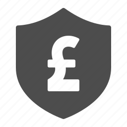 currency, gbp, insurance, money, pound, security, shield icon