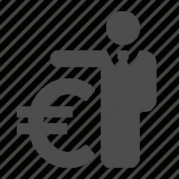 banker, businessman, euro, finance, insurance, loan, money icon