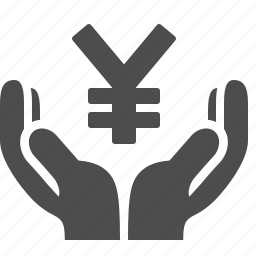 currency, finance, hands, loan, money, yen, yuan icon
