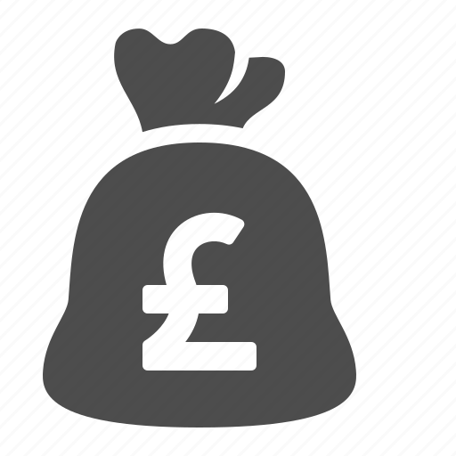 bag, currency, finance, money, moneybag, pound icon