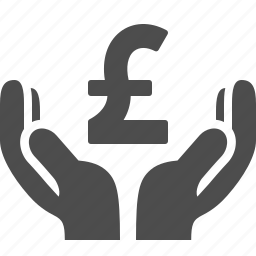 currency, finance, gbp, hands, loan, money, pound icon