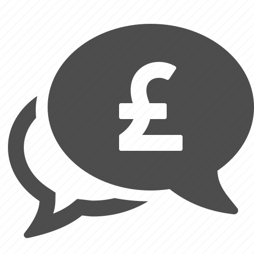 chat, currency, finance, gbp, money, pound, speech bubble icon