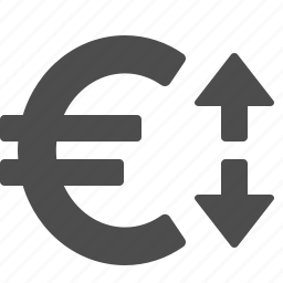currency, euro, exchange, exchange rate, finance, money, rate icon